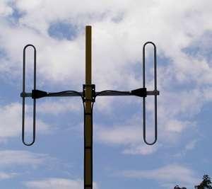 Antenna AD-38/4 on mast