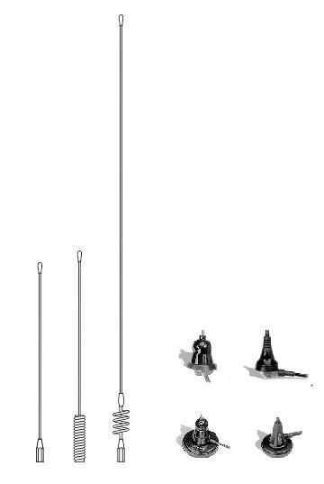 Mobile antennas 2 m band