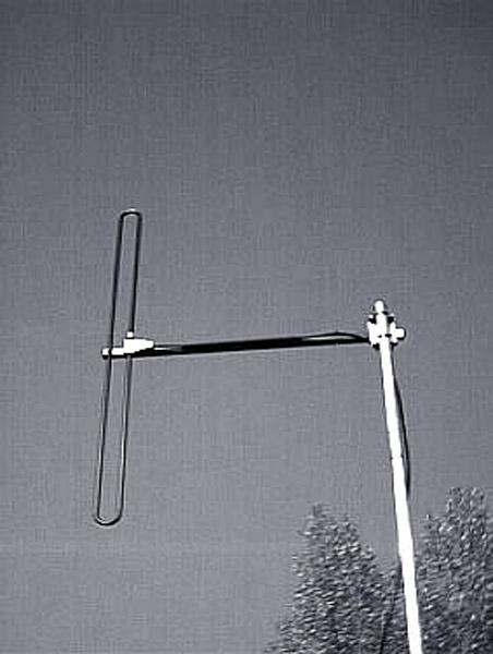 Antenna AD-39/4 on mast