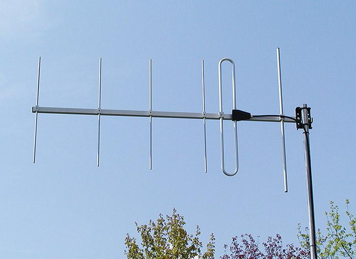 Antenna AD-40/2-6 on mast