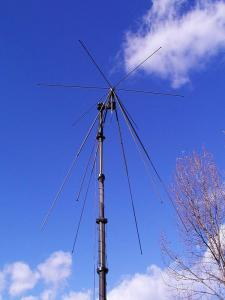 Antenna AD-17 on mast