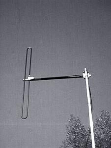 Antenna AD-39/4 on mast