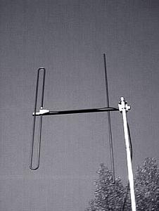 Antenna AD-40/4-2 on mast