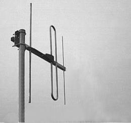 Antenna AD-40/4-3 on mast